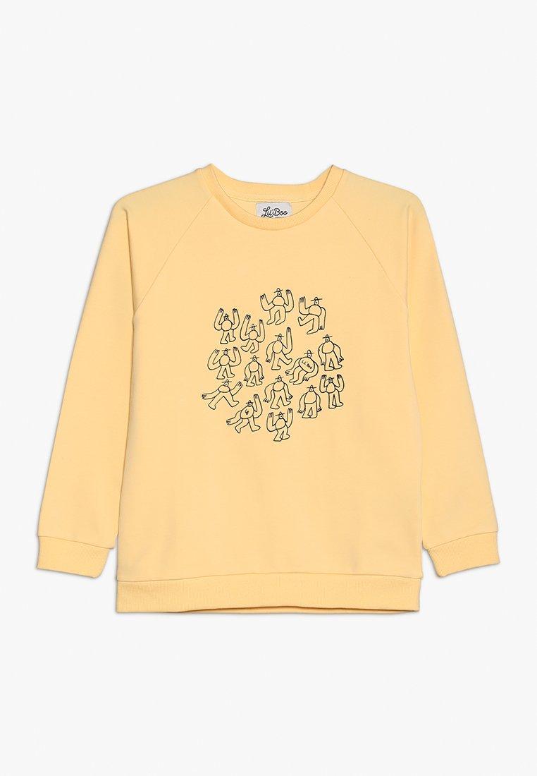 Lil'Boo - LIL' BOO X LB MANY MONSTER SWEATSHIRT - Sweatshirt - peach yellow
