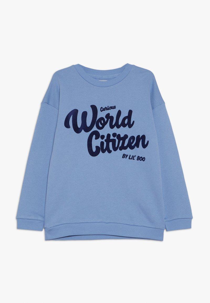 Lil'Boo - CURIOUS WORLD CITIZEN - Mikina - allure blue