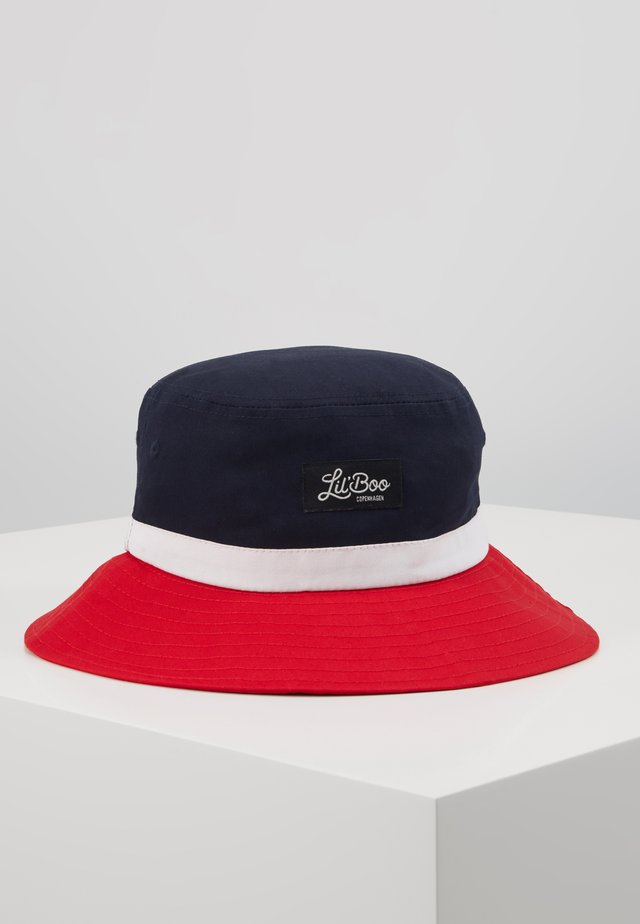 BUCKET HAT  - Hatt - red/navy/white