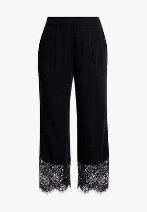 HADDIEL PANTS - Trousers - pitch black