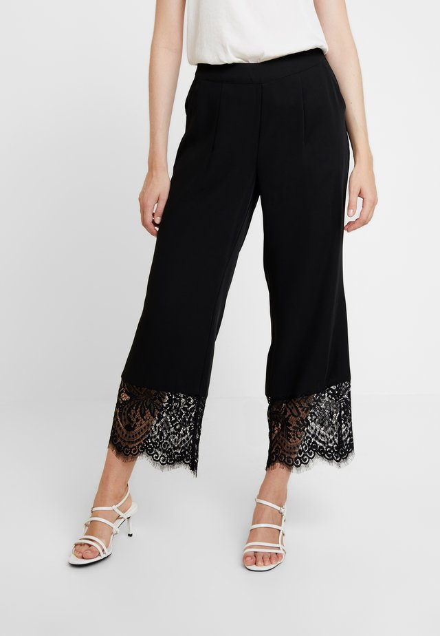 HADDIEL PANTS - Trousers - pitch black