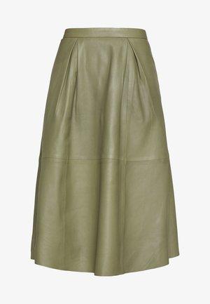 ANNE SKIRT - A-line skirt - burnt olive