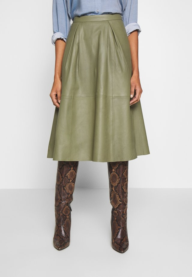 ANNE SKIRT - A-line skirt - burnt olive