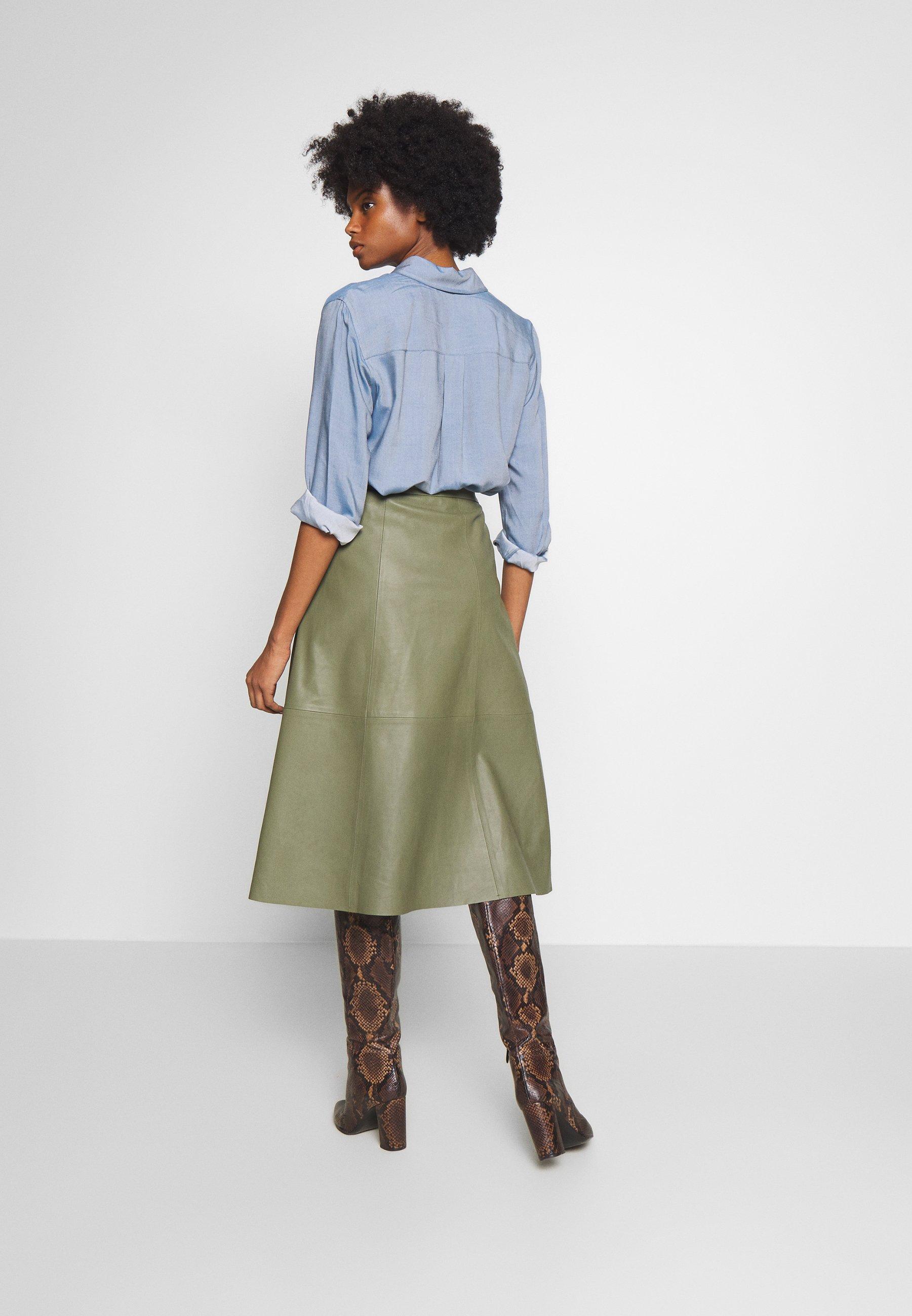 Love Copenhagen Anne Skirt - A-linjekjol Burnt Olive