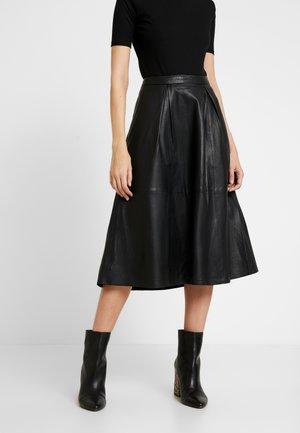 ANNE SKIRT - A-line skirt - pitch black