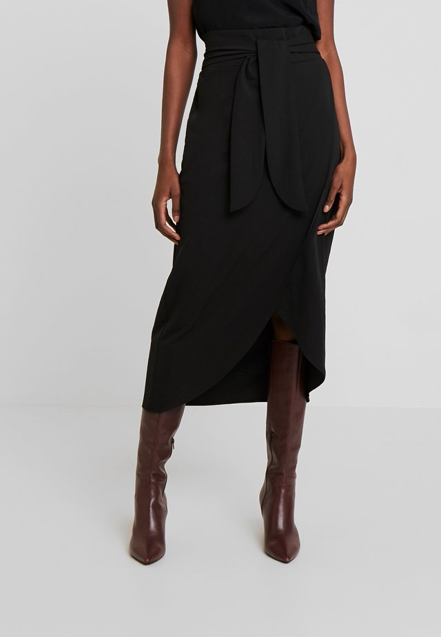 SAGA SKIRT - A-linjainen hame - pitch black
