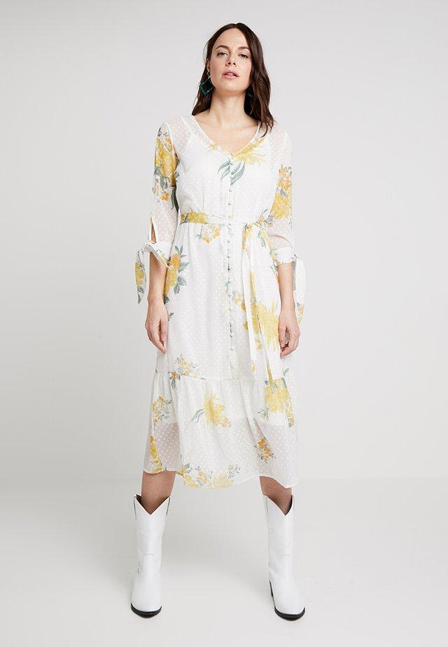 PAULINE LONG FLORAL DRESS - Day dress - chalk