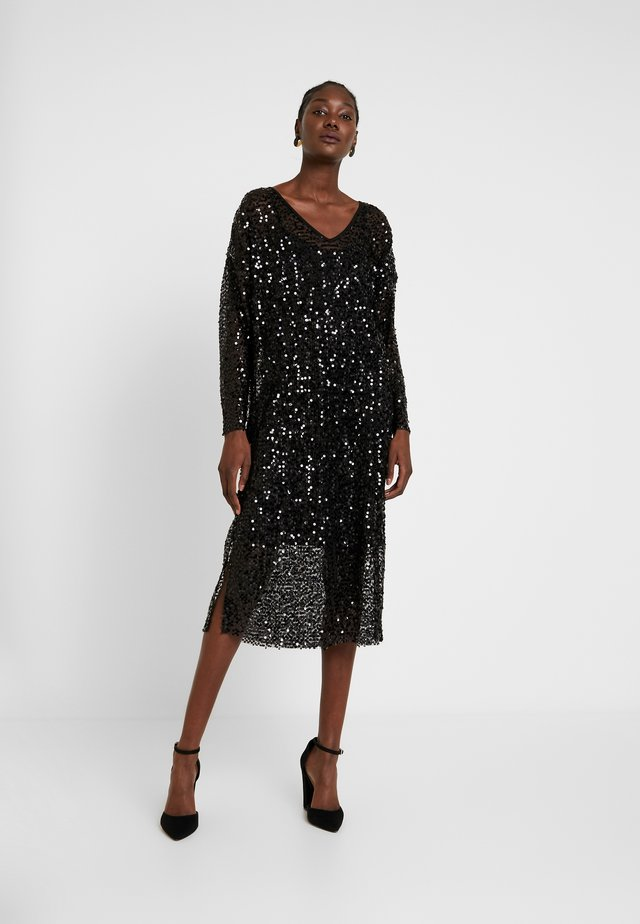 MALY SEQUINS DRESS - Juhlamekko - pitch black