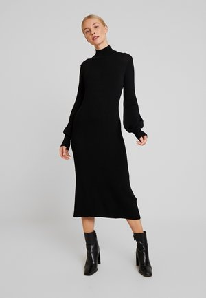 MARIELC TURTLE NECK DRESS - Maxi dress - pitch black