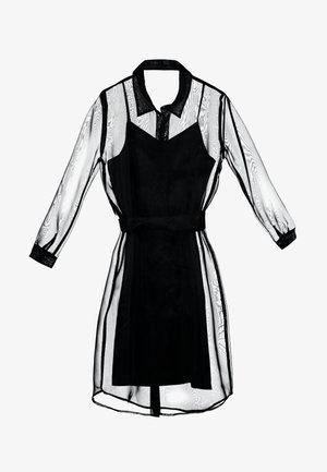 DRESS - Skjortklänning - pitch black