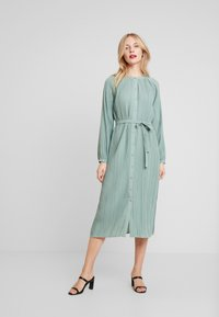 Love Copenhagen - INES PLEATED DRESS - Day dress - faded green - 1
