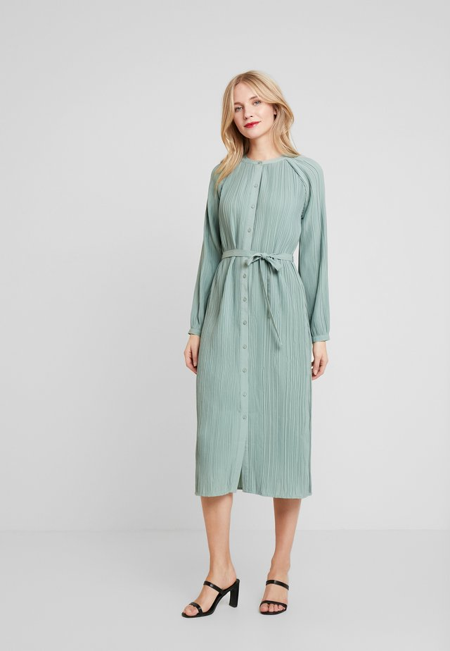 INES PLEATED DRESS - Day dress - faded green