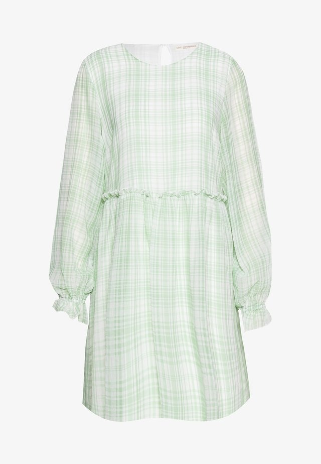 EDWINA DRESS - Day dress - white/green