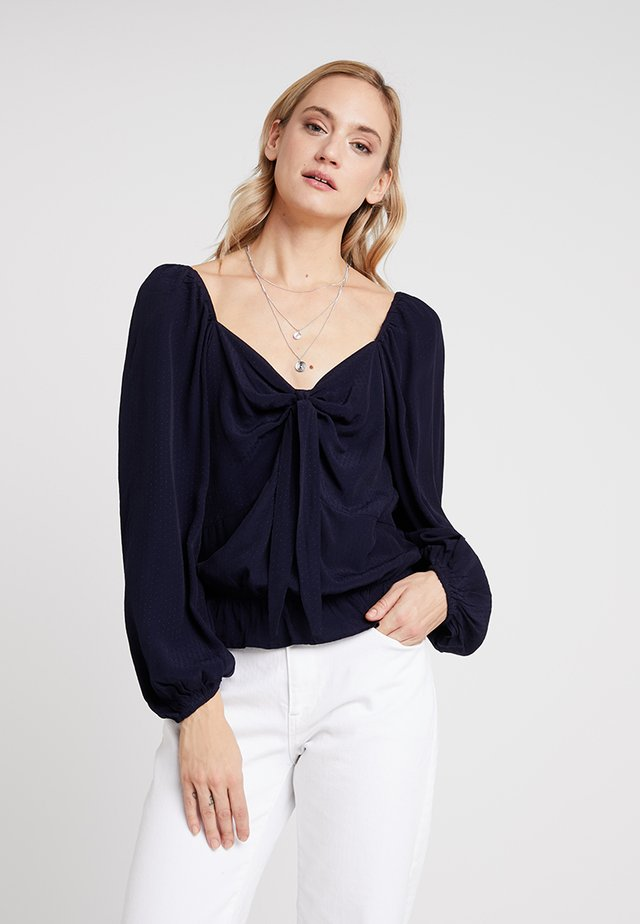 ELLY CROPPED BLOUSE - Bluser - royal navy blue