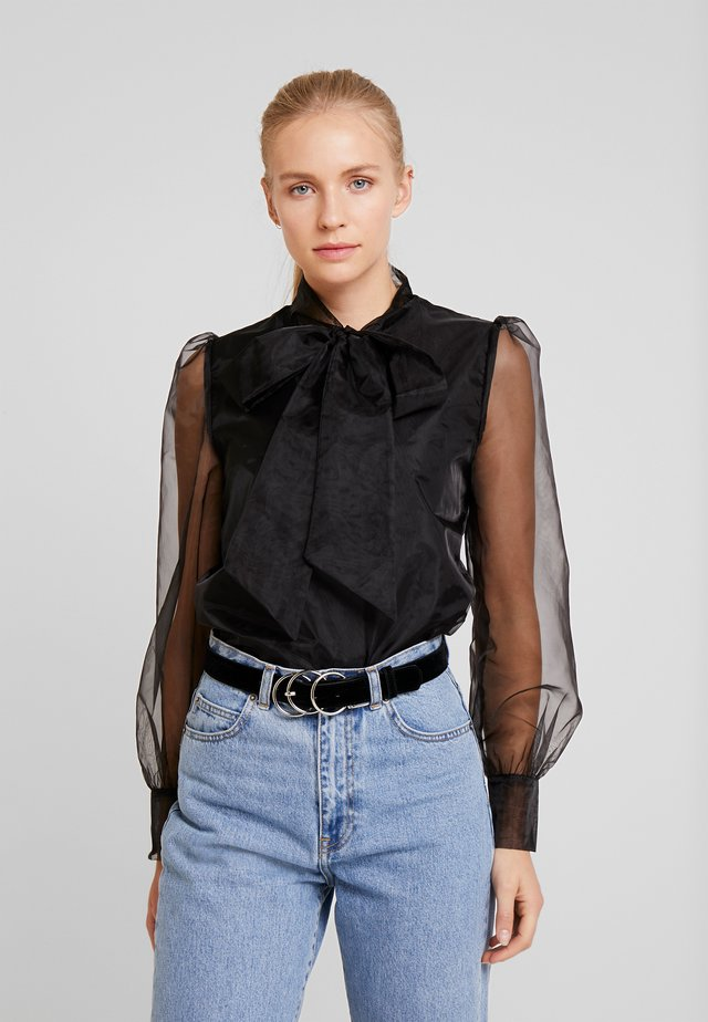 ORGANZA BLOUSE - Bluser - pitch black