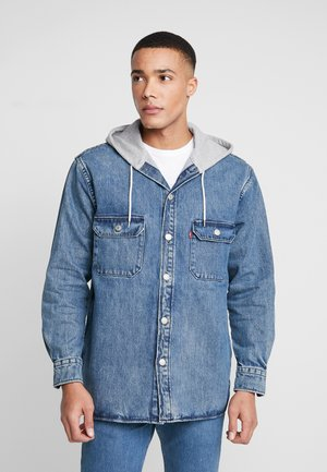 HOODED JACKSON OVERSHIRT - Kurtka jeansowa - blue denim