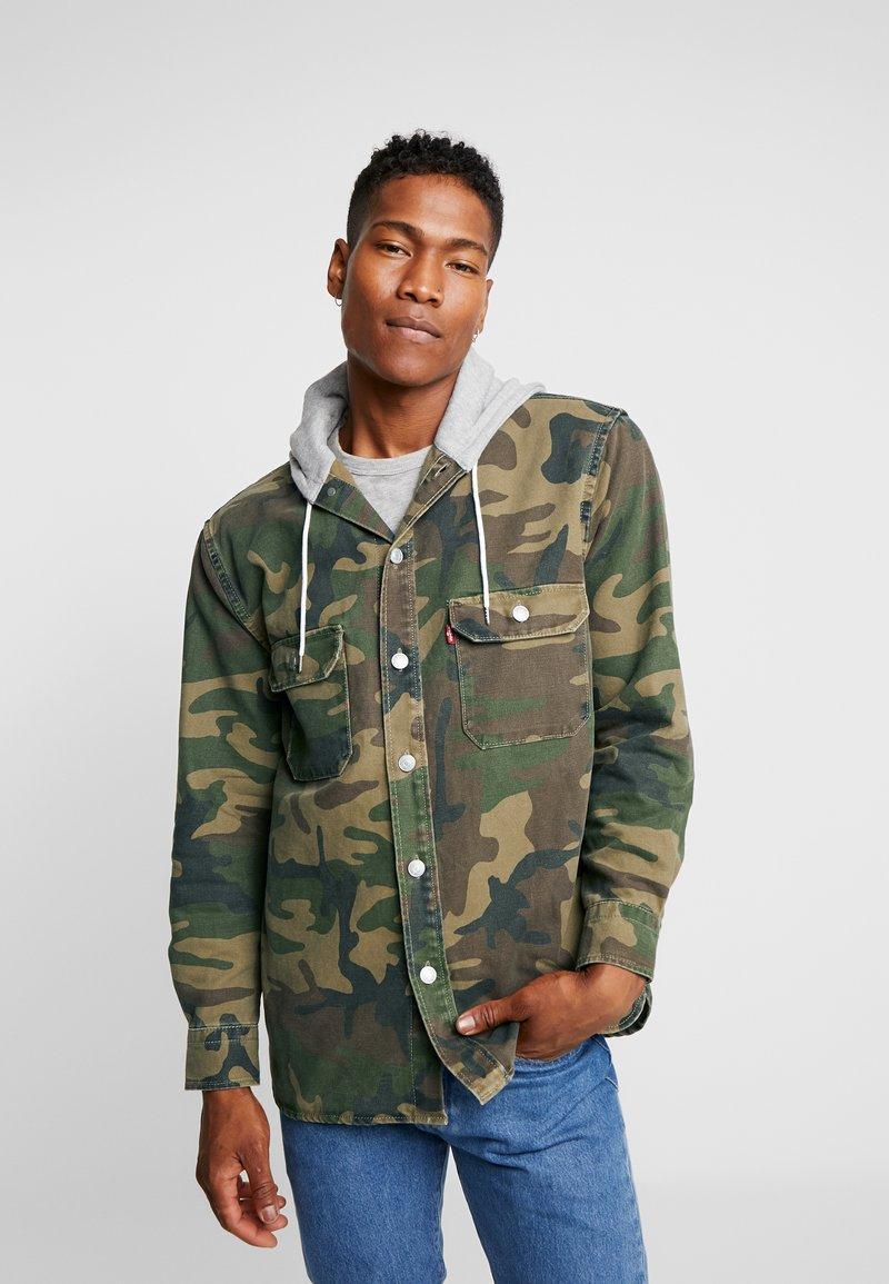 Levi's® Extra - HOODED JACKSON OVERSHIRT - Giacca di jeans - khaki