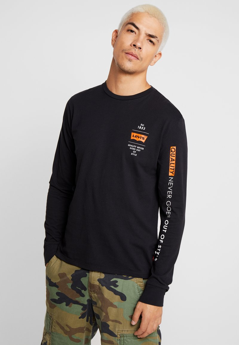Levi's® Extra - GRAPHIC TEE - Long sleeved top - black