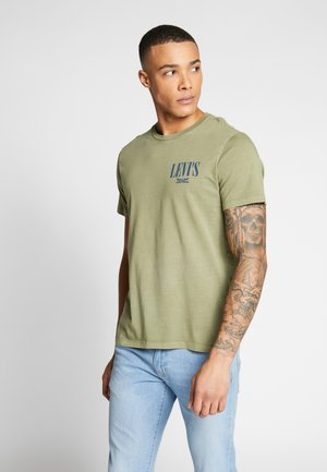 GRAPHIC - T-shirt imprimé - olive