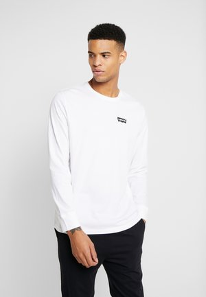 RELAXED GRAPHIC TEE - Long sleeved top - white