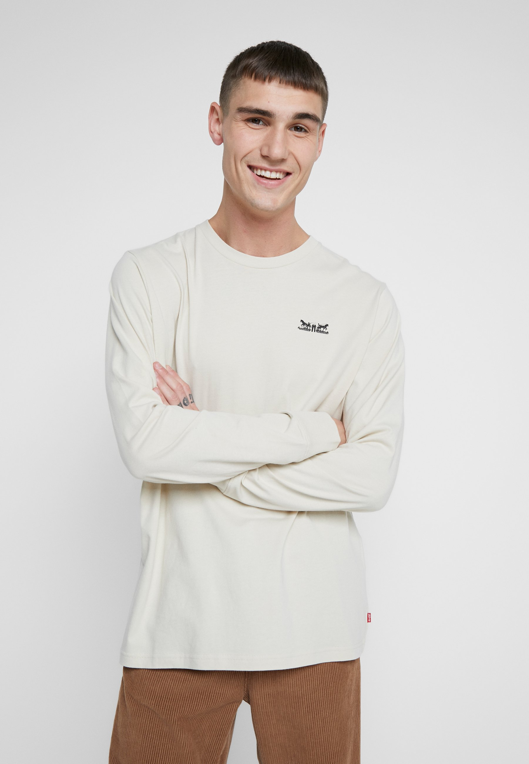 Levi's® RELAXED GRAPHIC TEE - Long sleeved top - fog