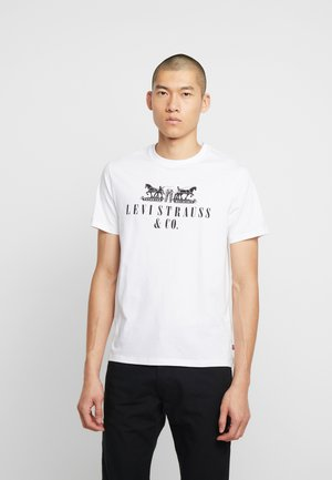 2-HORSE GRAPHIC TEE - T-shirt imprimé - white