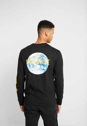 GRAPHIC TEE  - Maglietta a manica lunga - world mineral black