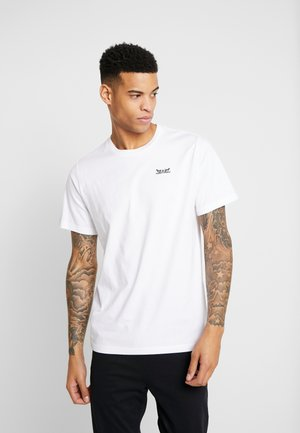 RELAXED GRAPHIC TEE - Printtipaita - text white