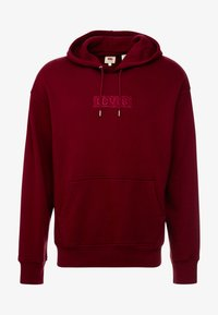 Levi's® Extra - RELAXED GRAPHIC HOODIE - Huppari - babytab tech cabernet - 4