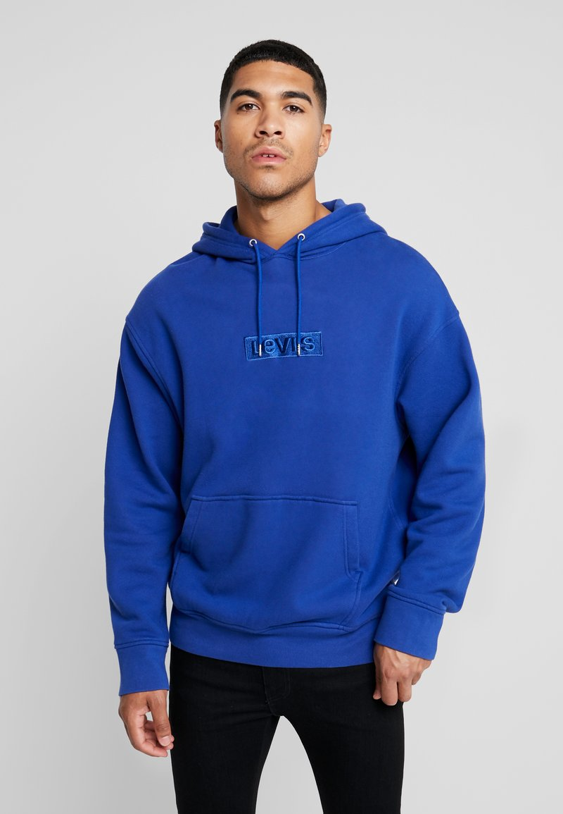 Levi's® Extra - RELAXED GRAPHIC HOODIE - Jersey con capucha - babytab tech sodalite blue