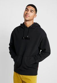 Levi's® Extra - RELAXED GRAPHIC HOODIE - Mikina skapucí - mineral black - 0
