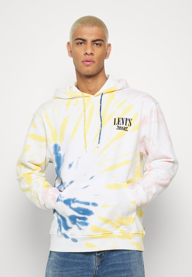 RELAXED GRAPHIC HOODIE - Jersey con capucha - serif tiedye po tiedye