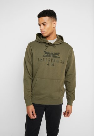 GRAPHIC HOODIE - Huppari - utility olive night