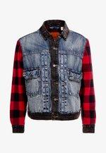 TYPE HYBRID TRUCKER - Denim jacket - blue denim/red