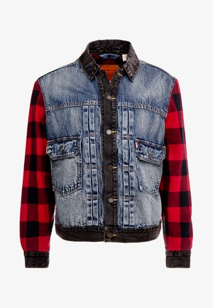 TYPE HYBRID TRUCKER - Denim jacket - blue denim/red