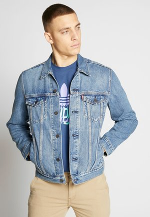 THE TRUCKER JACKET - Kurtka jeansowa - embossed 2 horse trucker