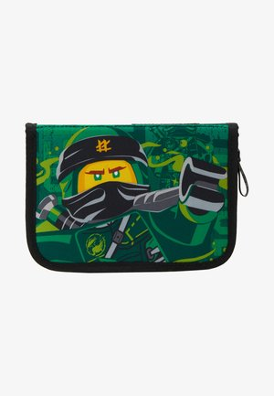 PENCIL CASE WITH CONTENT - Etui - green
