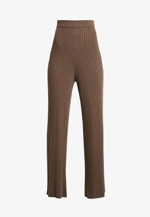 SUNNY PANTS - Trousers - major brown melange