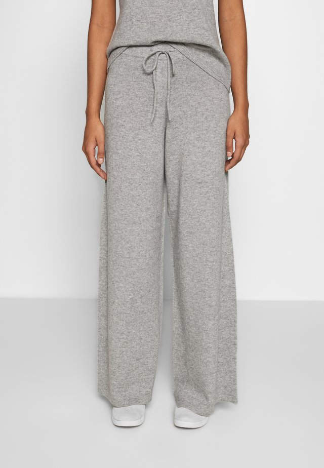 NOELLN PANTS - Stoffhose - light grey melange