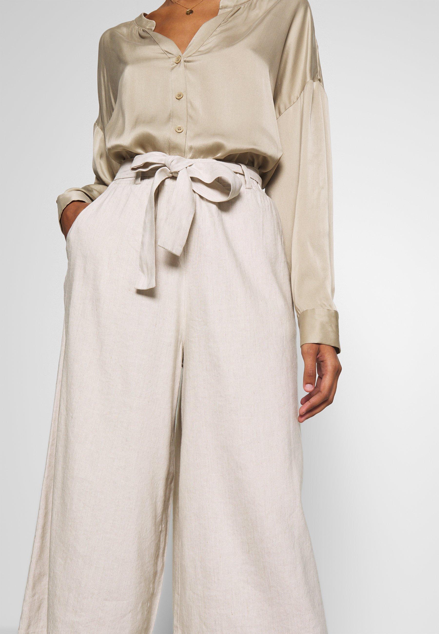 Lounge Nine LAUREN CULOTTE - Spodnie materiałowe - beige melange
