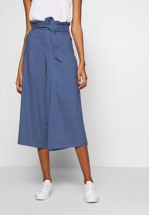 LAURENLN CULOTTE - Spodnie materiałowe - bijou blue