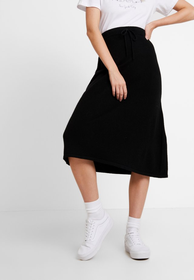 LUXALN SKIRT - A-line skirt - pitch black