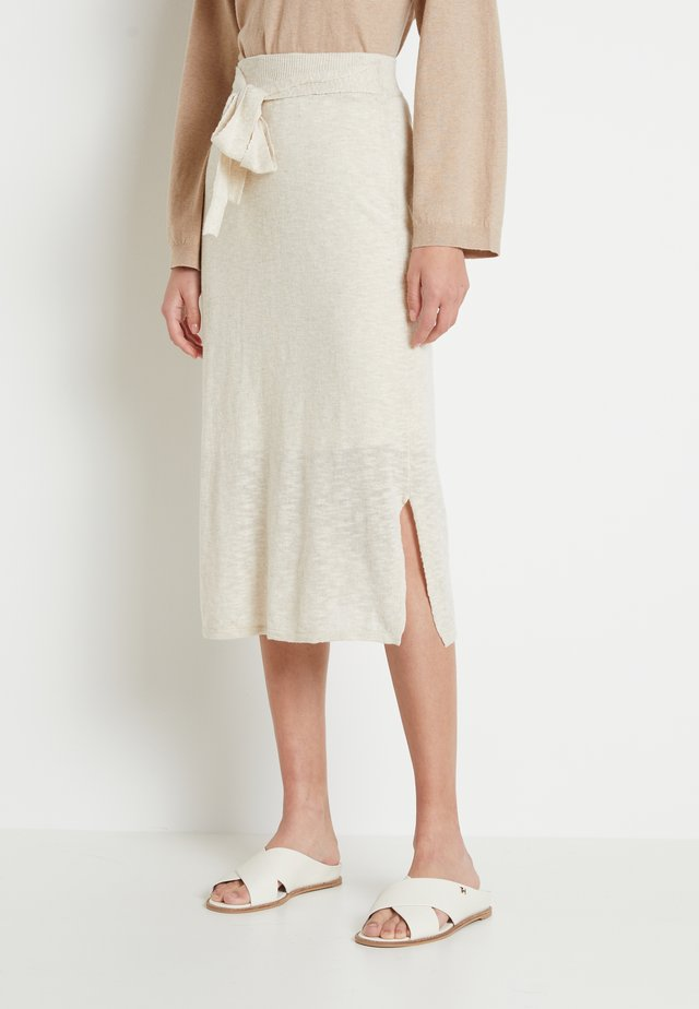 TALIALN SKIRT - A-line skirt - linen melange