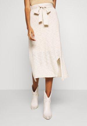 TALIALN SKIRT - Áčková sukně - linen melange