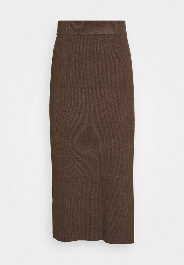 CELESTINA SKIRT - Jupe crayon - chocolate chip melange