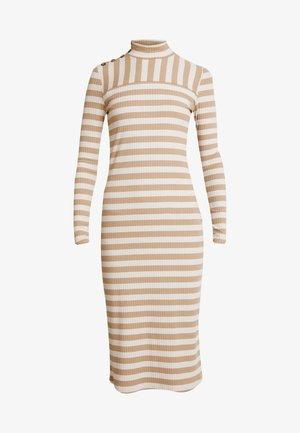 BERRA STRIPE DRESS - Pletené šaty - portabella
