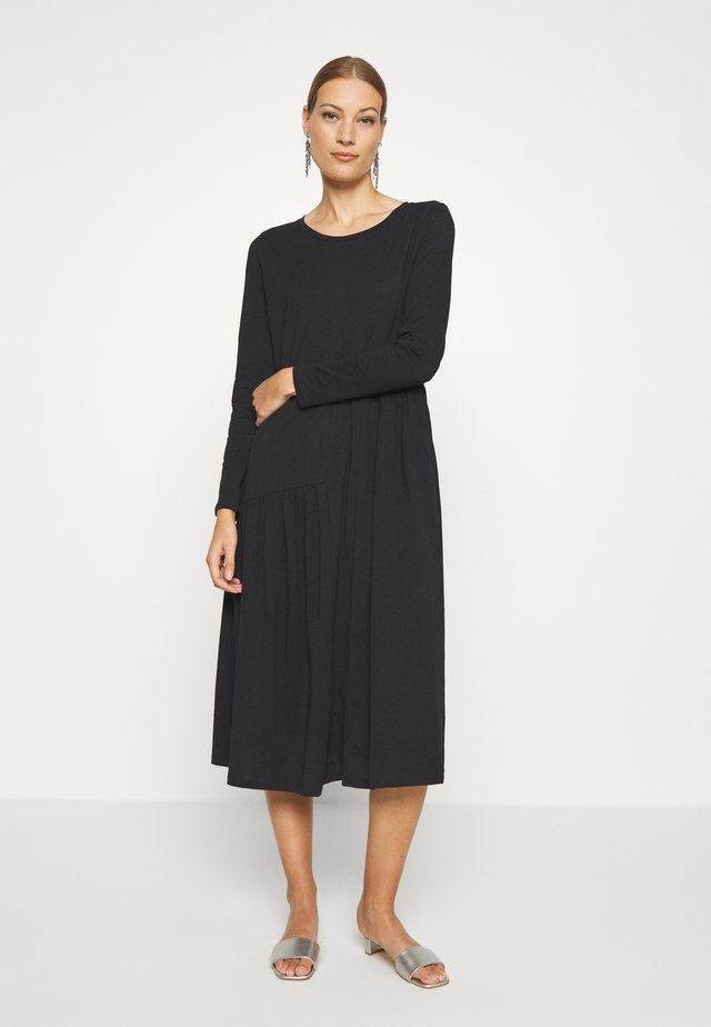HERMIONE DRESS - Jersey dress - pitch black