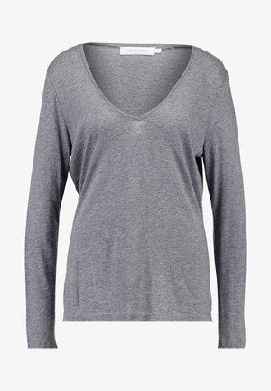 ISA LONG SLEEVE - Bluzka z długim rękawem - grey melange