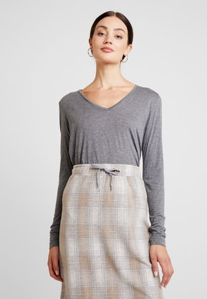 ISA LONG SLEEVE - T-shirt à manches longues - grey melange