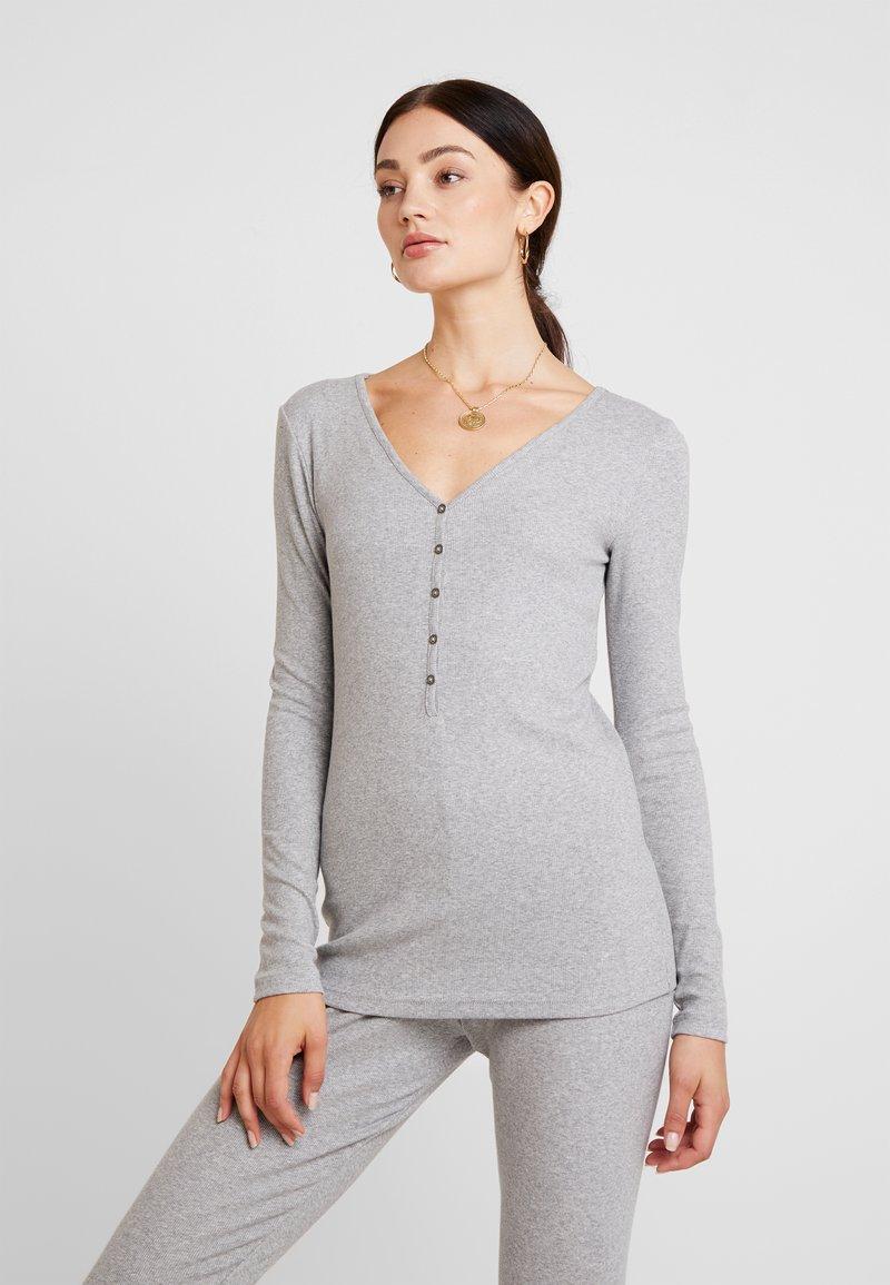 Lounge Nine - LILLYLN - Langærmede T-shirts - light grey melange
